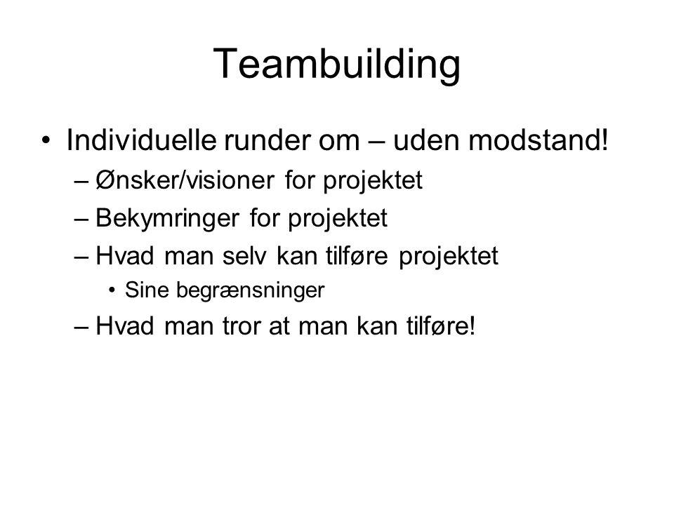 Teambuilding Individuelle runder om – uden modstand!