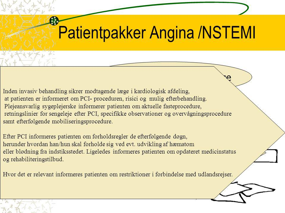 Patientpakker Angina /NSTEMI