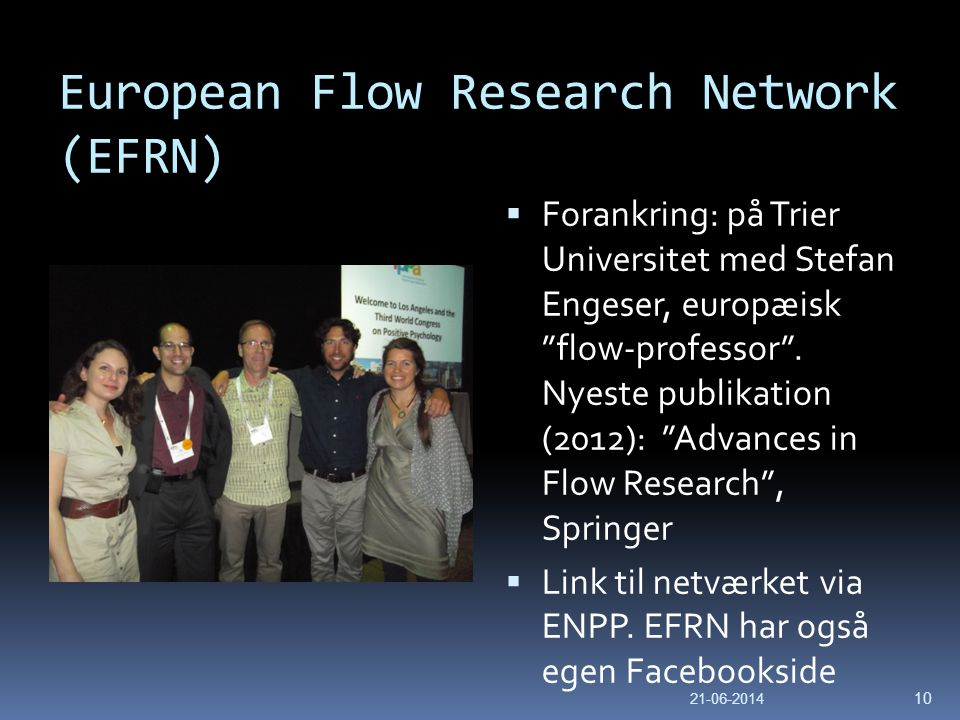 European Flow Research Network (EFRN)