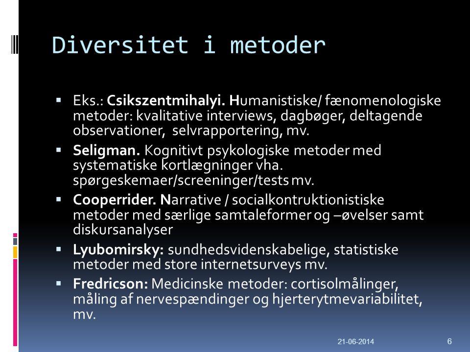 Diversitet i metoder