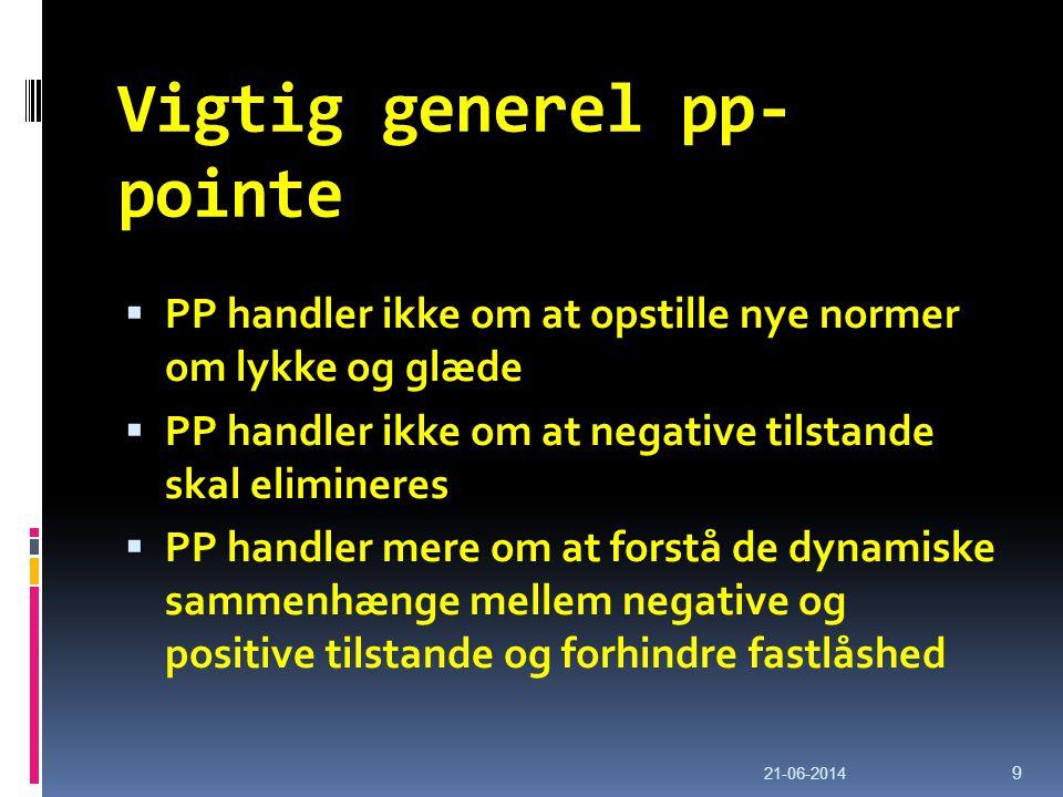 Vigtig generel pp-pointe