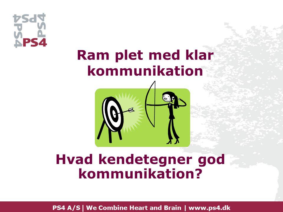 Ram plet med klar kommunikation