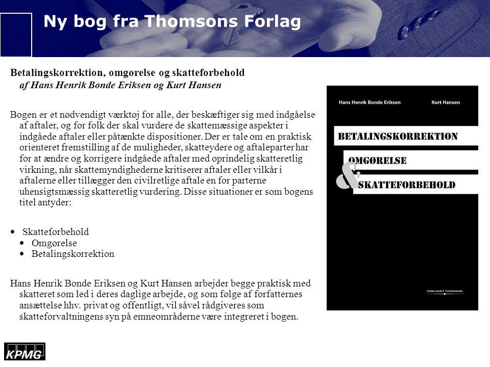 Ny bog fra Thomsons Forlag