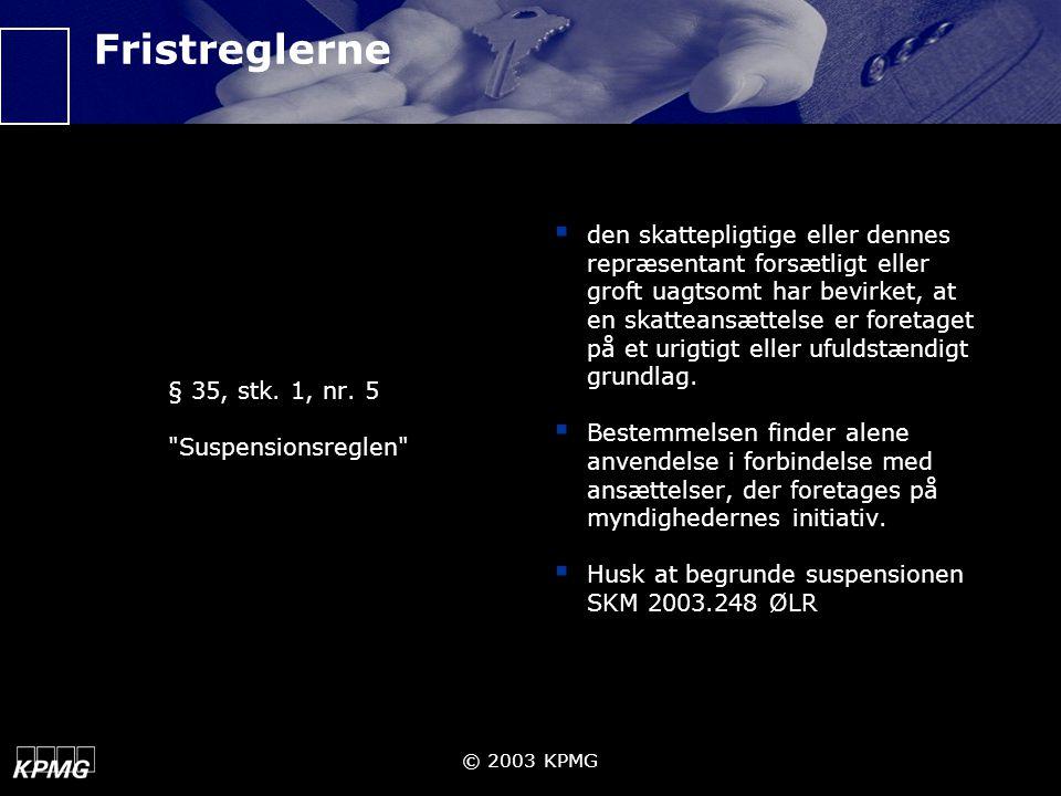 Fristreglerne § 35, stk. 1, nr. 5. Suspensionsreglen