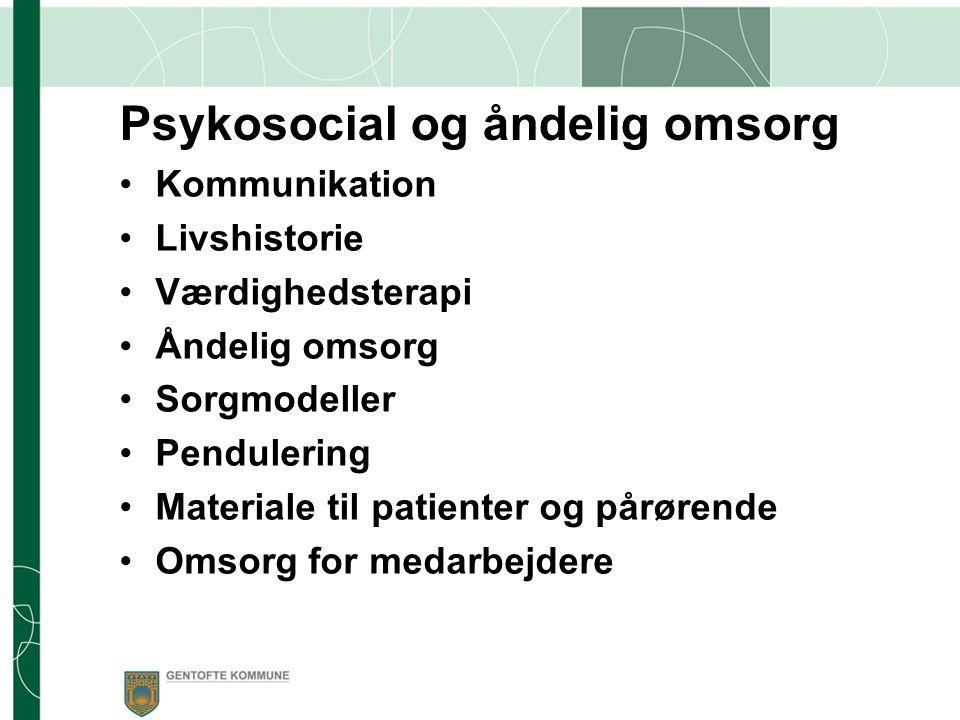 Psykosocial og åndelig omsorg