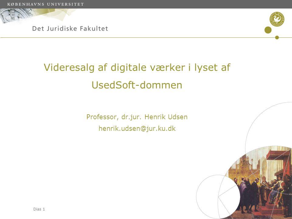 Videresalg af digitale værker i lyset af UsedSoft-dommen Professor, dr