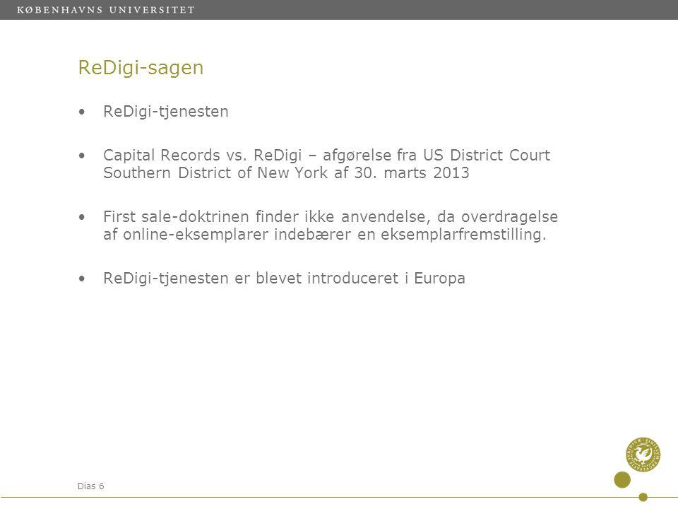 ReDigi-sagen ReDigi-tjenesten