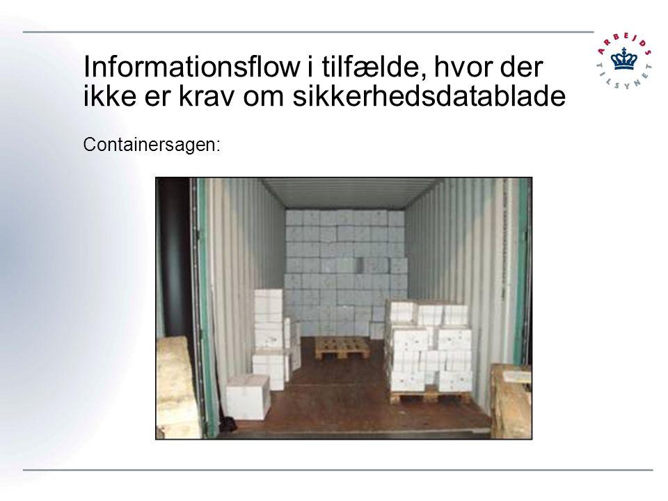 Informationsflow i tilfælde, hvor der ikke er krav om sikkerhedsdatablade