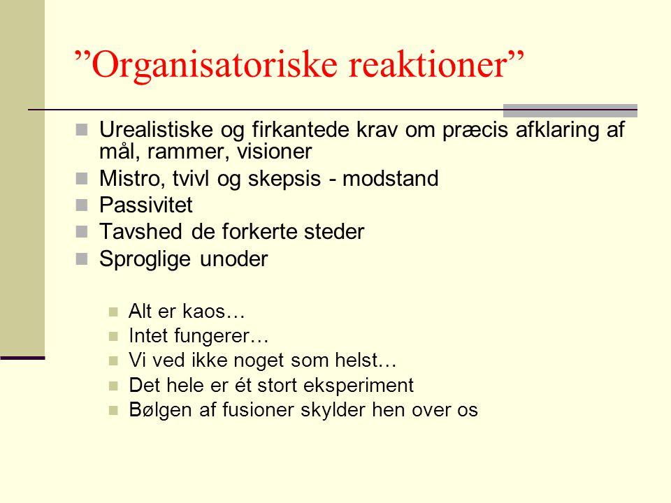 Organisatoriske reaktioner