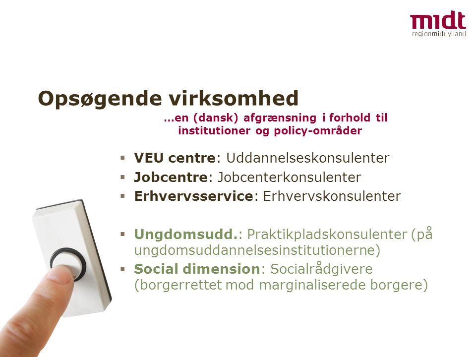 Opsøgende virksomhed VEU centre: Uddannelseskonsulenter