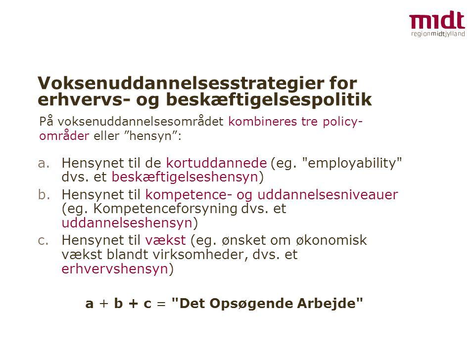 Voksenuddannelsesstrategier for erhvervs- og beskæftigelsespolitik