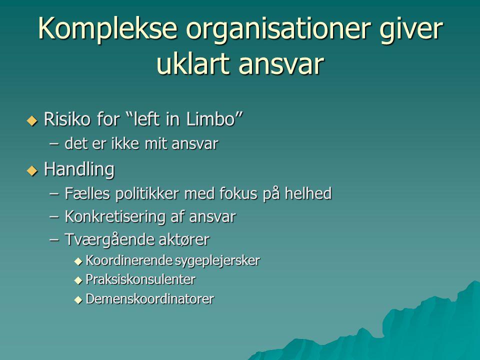 Komplekse organisationer giver uklart ansvar