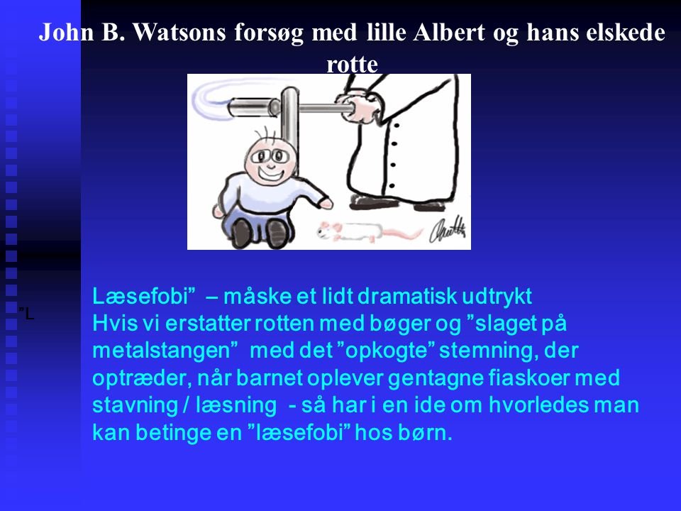 John B. Watsons forsøg med lille Albert og hans elskede rotte