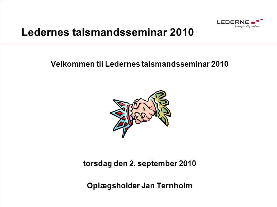 Ledernes talsmandsseminar 2010