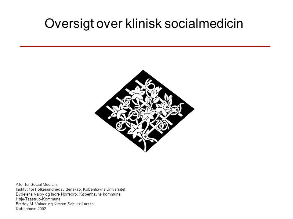 Oversigt over klinisk socialmedicin