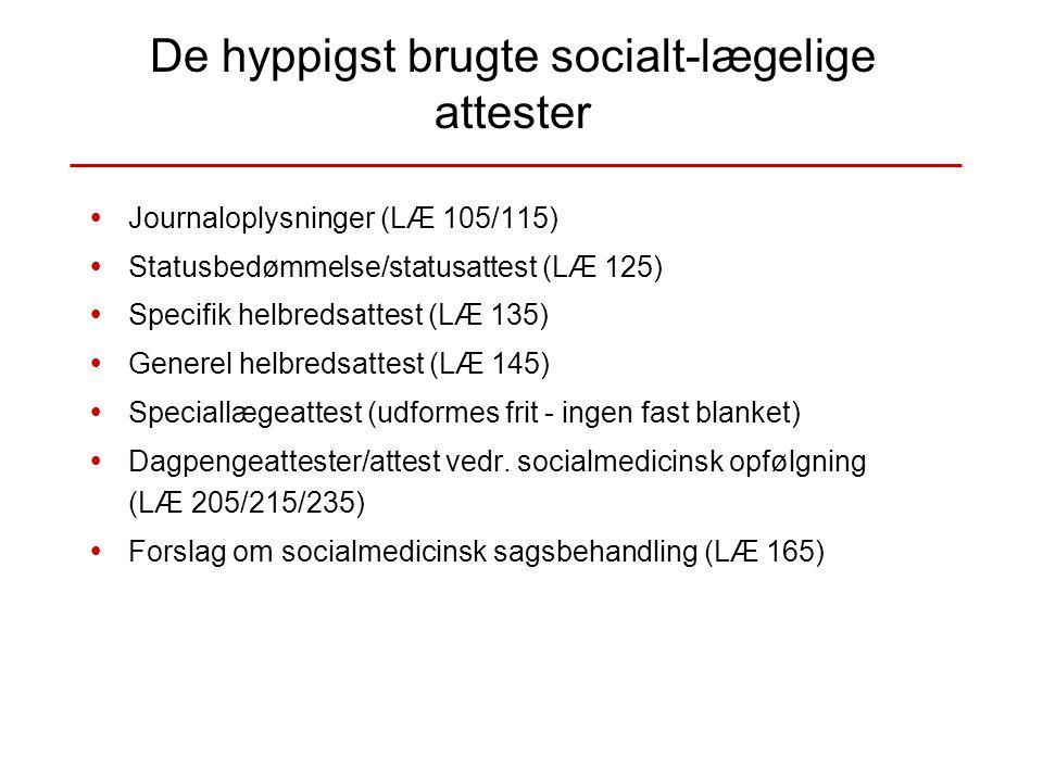 De hyppigst brugte socialt-lægelige attester