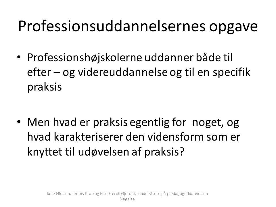 Professionsuddannelsernes opgave