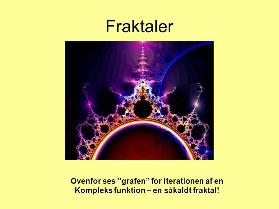 Fraktaler Ovenfor ses grafen for iterationen af en