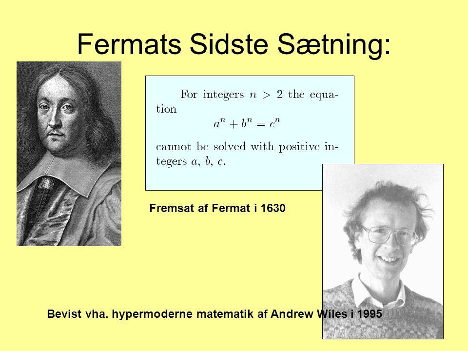 Fermats Sidste Sætning: