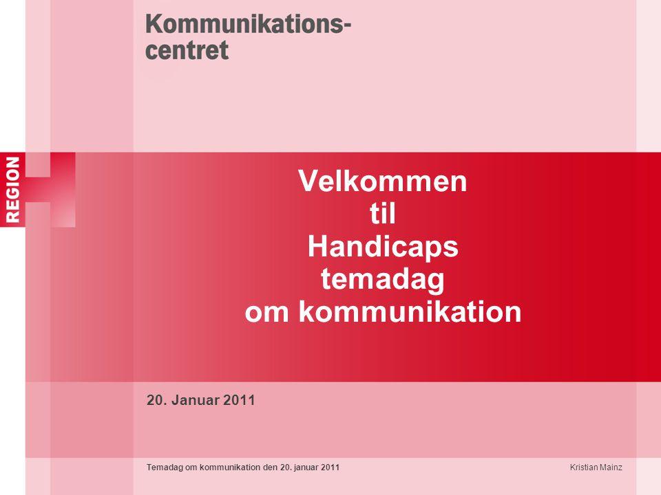 Velkommen til Handicaps temadag om kommunikation