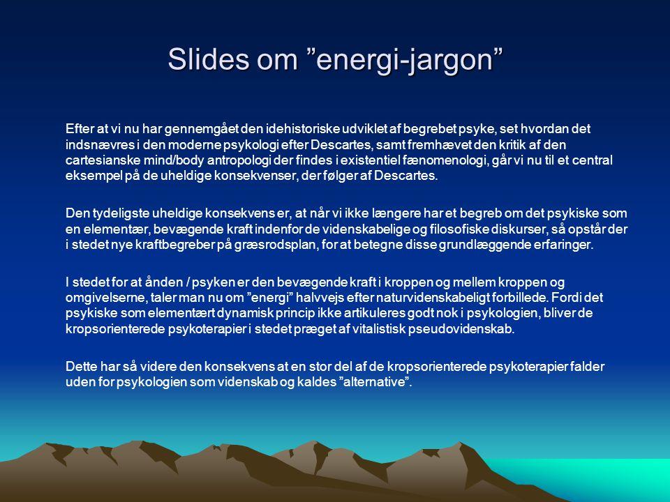 Slides om energi-jargon