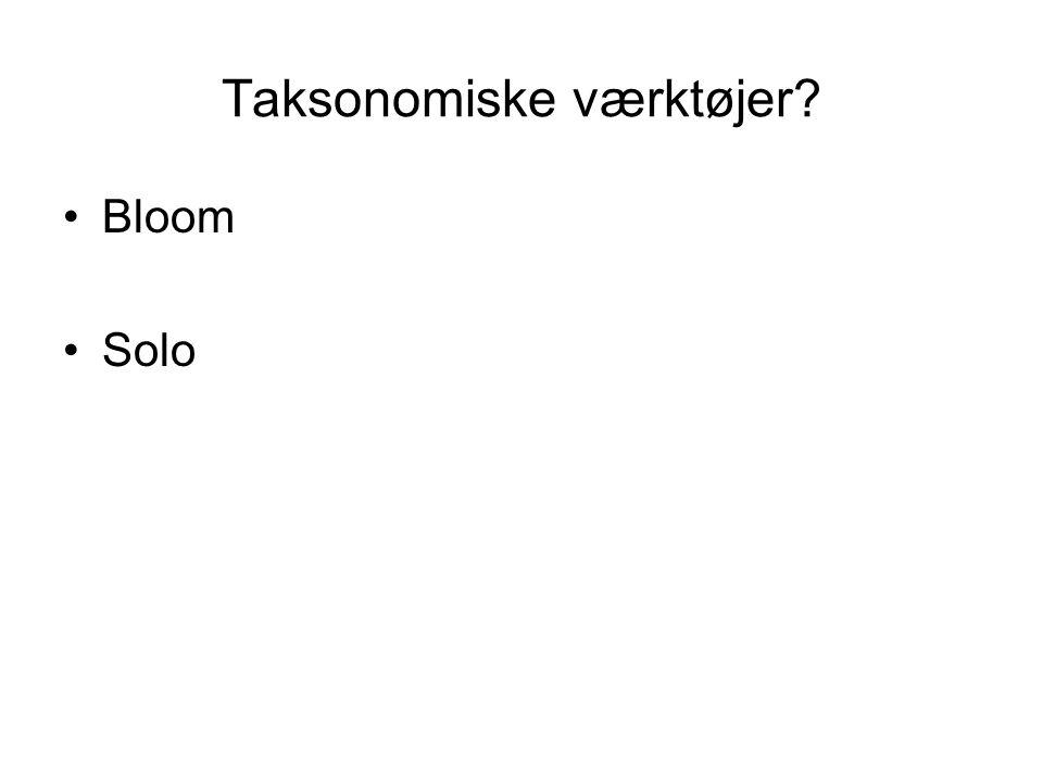 Taksonomiske værktøjer