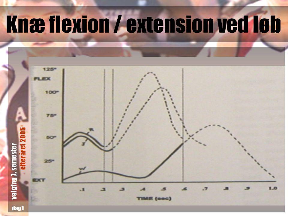 Knæ flexion / extension ved løb