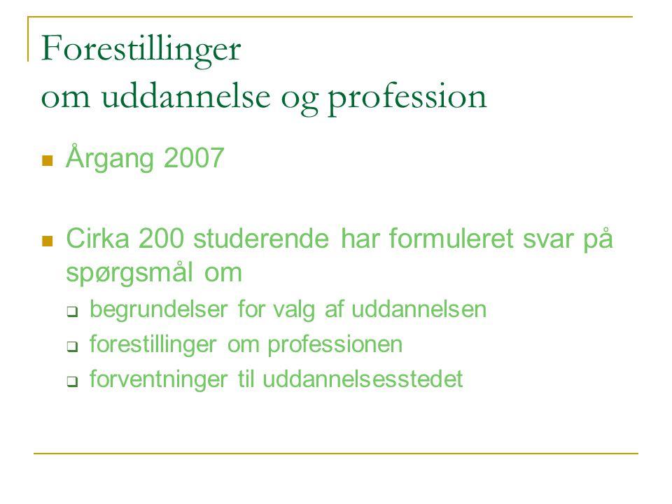 Forestillinger om uddannelse og profession