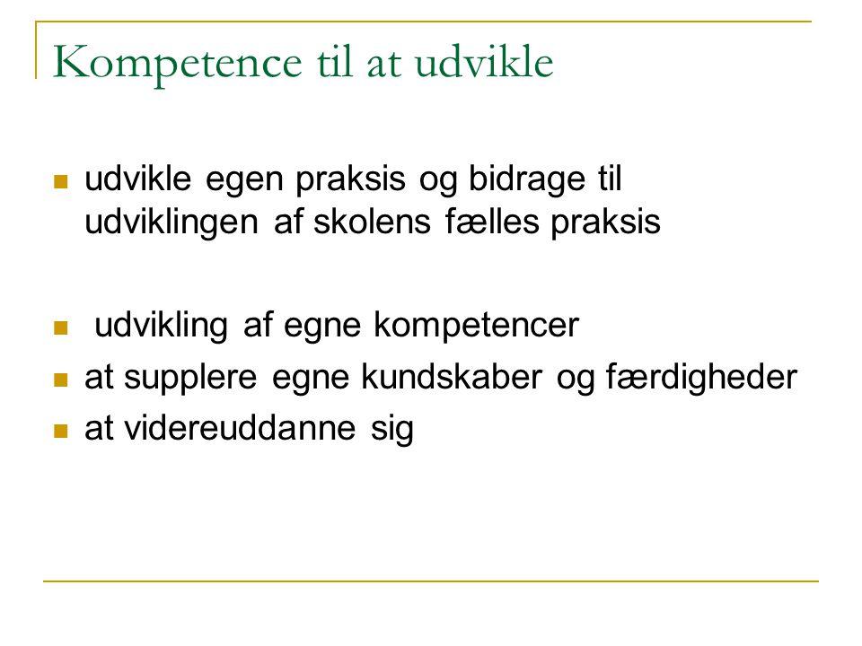 Kompetence til at udvikle