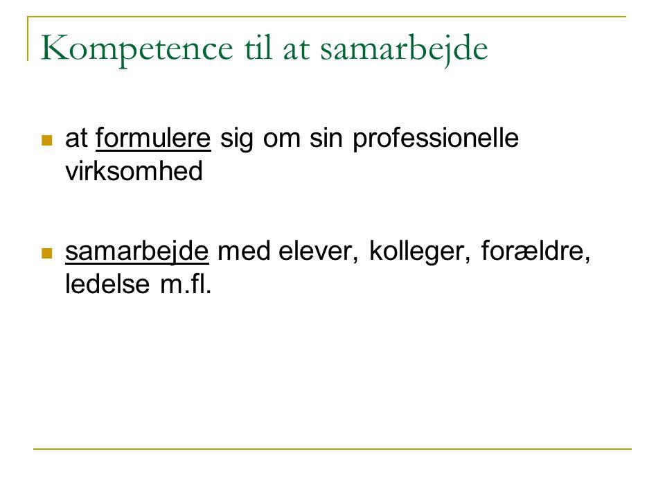 Kompetence til at samarbejde