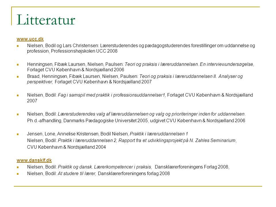 Litteratur www.ucc.dk.