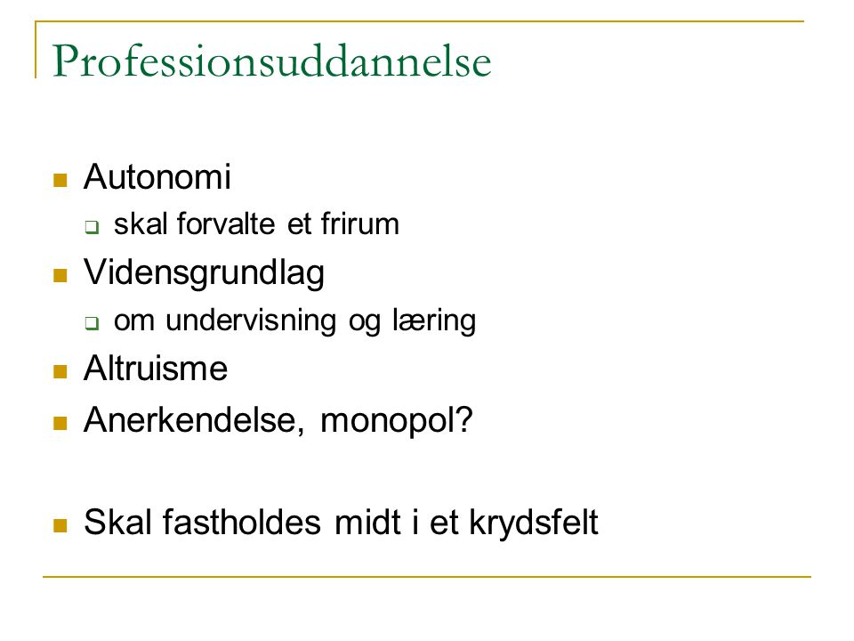 Professionsuddannelse