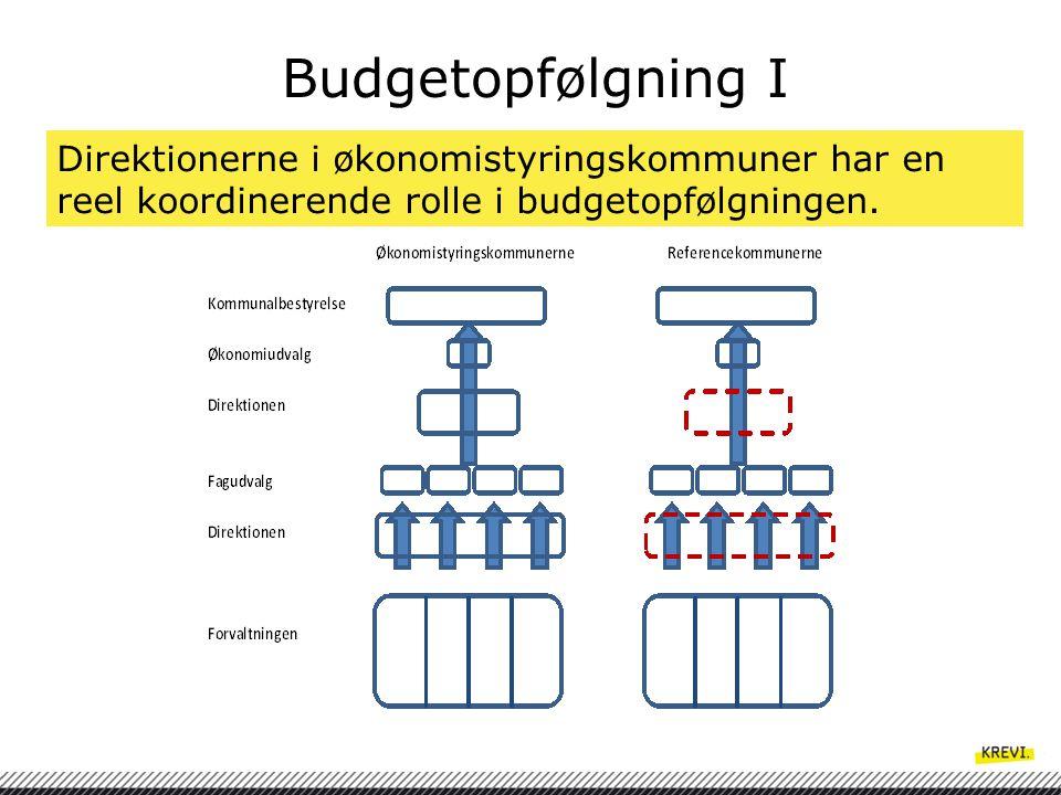 Budgetopfølgning I Direktionerne i økonomistyringskommuner har en reel koordinerende rolle i budgetopfølgningen.