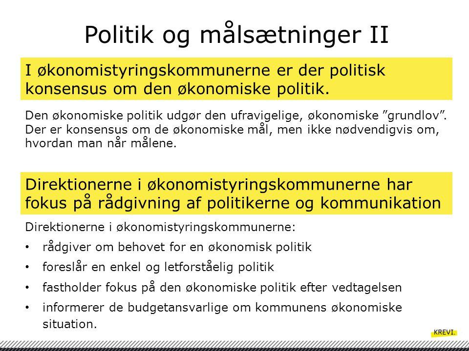 Politik og målsætninger II