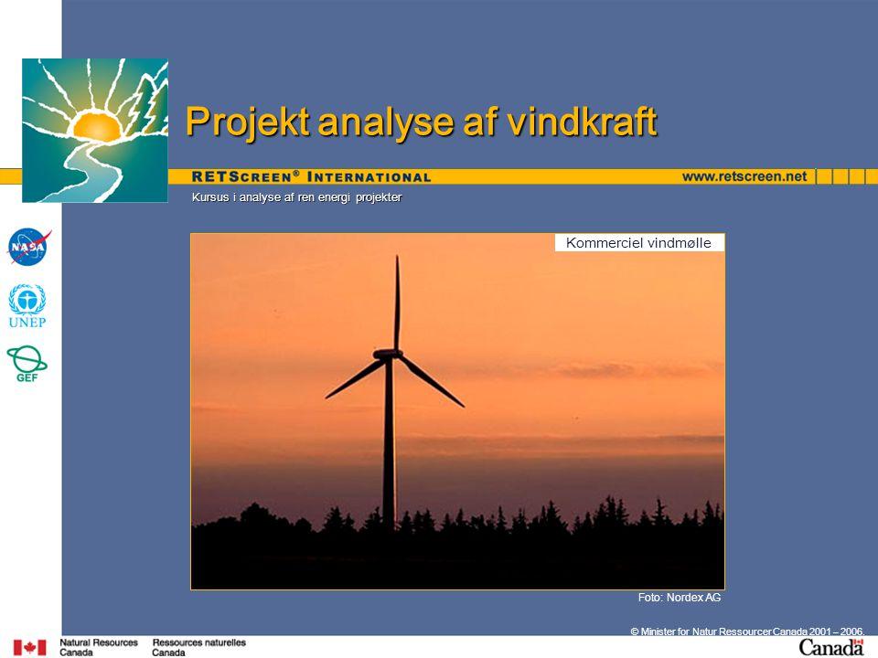 Projekt analyse af vindkraft