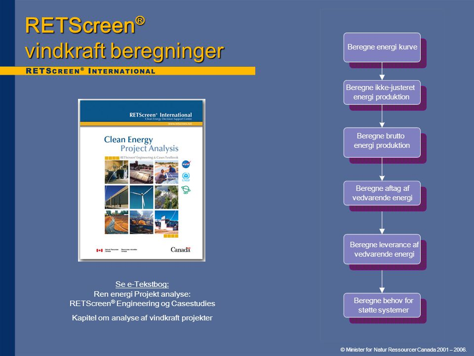 RETScreen® vindkraft beregninger