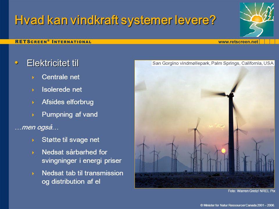 Hvad kan vindkraft systemer levere