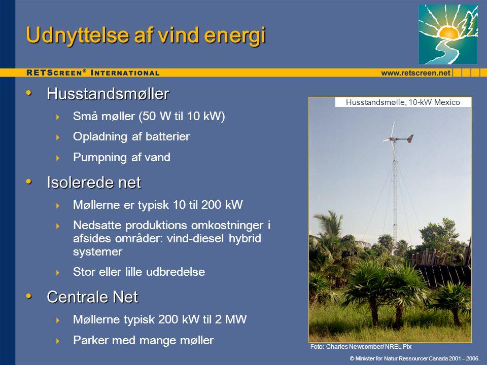 Udnyttelse af vind energi