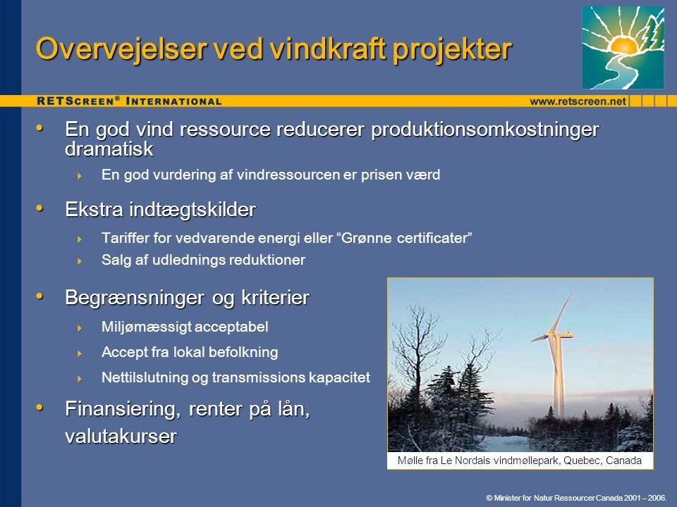 Overvejelser ved vindkraft projekter