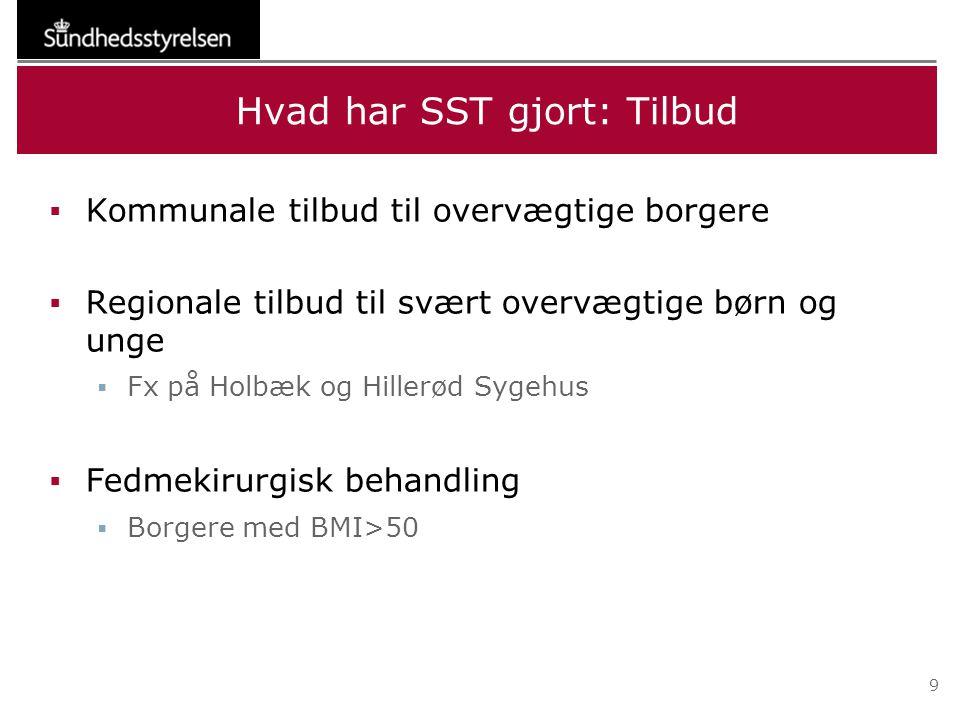 Hvad har SST gjort: Tilbud