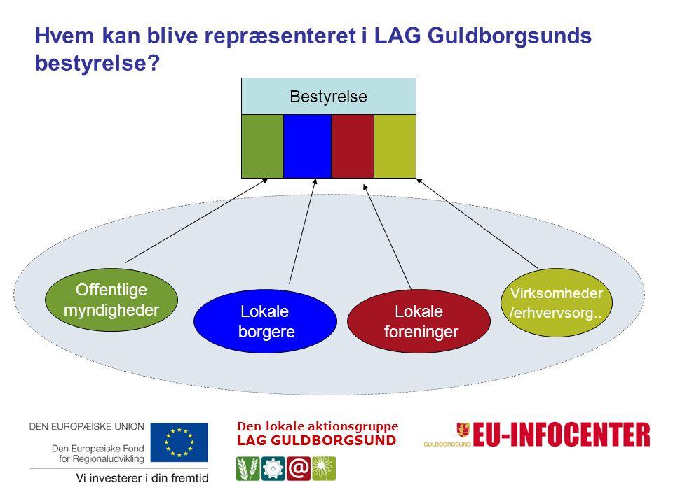 Hvem kan blive repræsenteret i LAG Guldborgsunds bestyrelse