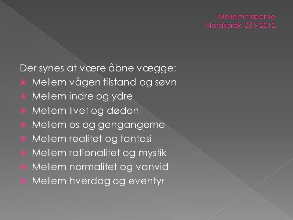 Mellem træerne Nordspråk 22.9.2012