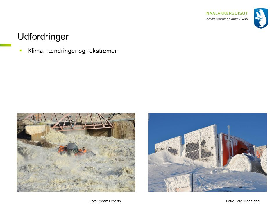 Udfordringer Klima, -ændringer og -ekstremer