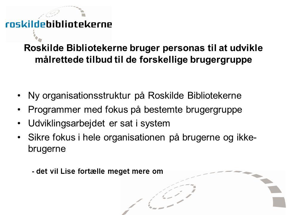 Ny organisationsstruktur på Roskilde Bibliotekerne