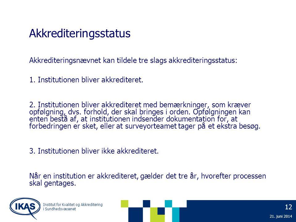 Akkrediteringsstatus