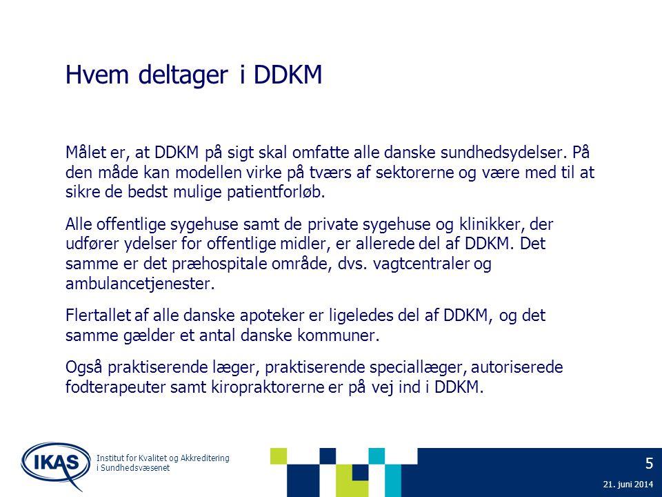 Hvem deltager i DDKM