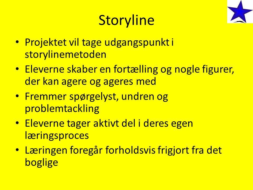 Storyline Projektet vil tage udgangspunkt i storylinemetoden