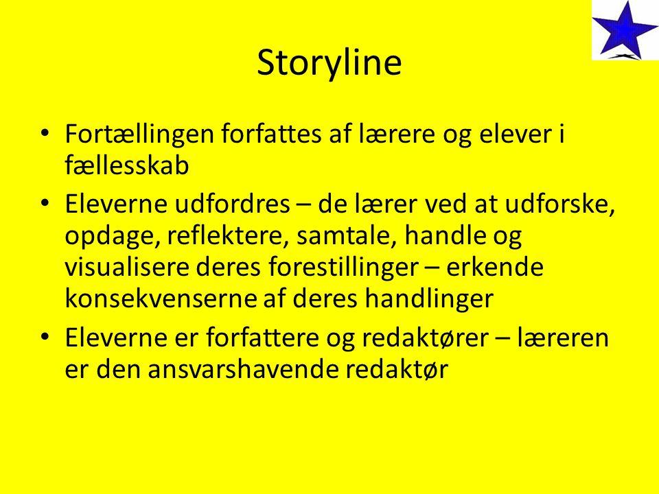 Storyline Fortællingen forfattes af lærere og elever i fællesskab