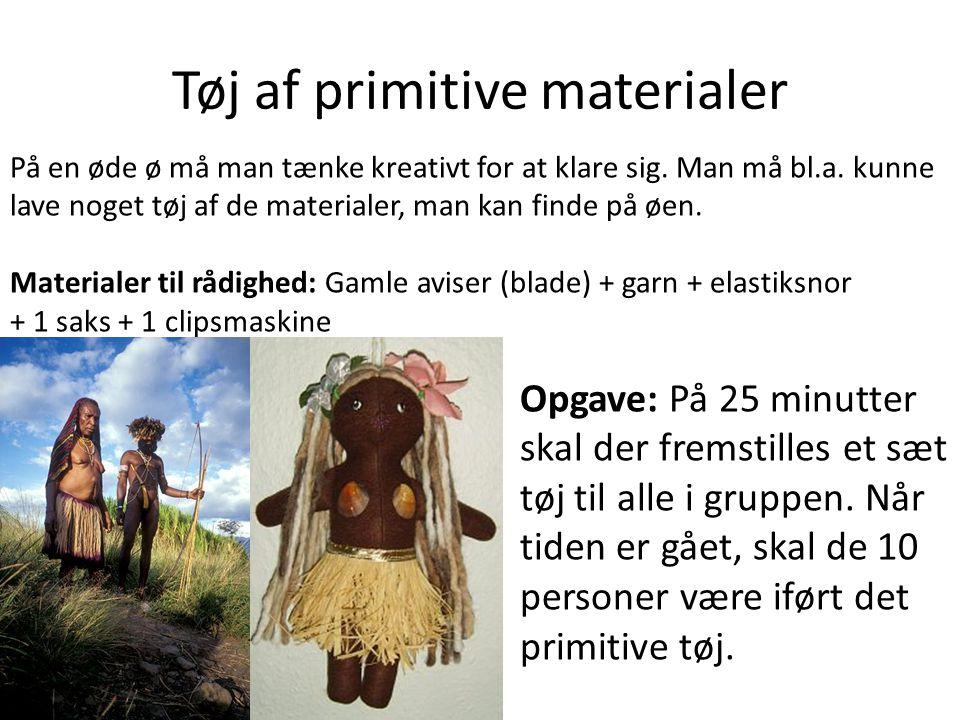 Tøj af primitive materialer