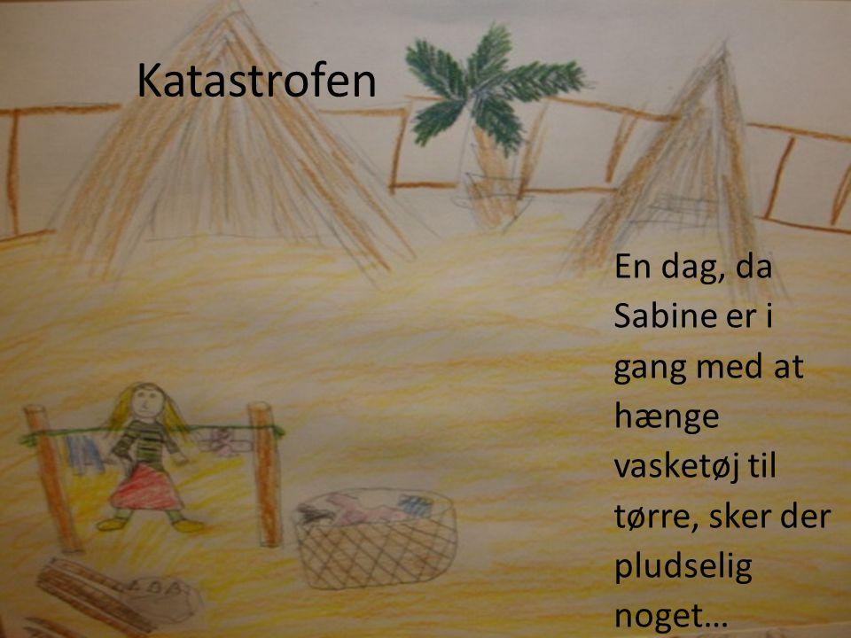 Katastrofen En dag, da Sabine er i gang med at hænge vasketøj til tørre, sker der pludselig noget…